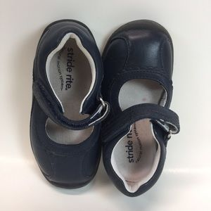 WIDE Stride rite navy blue girl maryjane Eliza 6.5